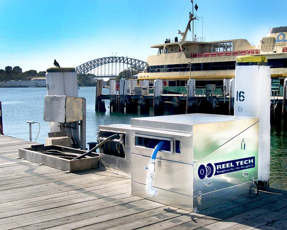 Reel Tech hose reels - Sydney Marina- Maritime Industry