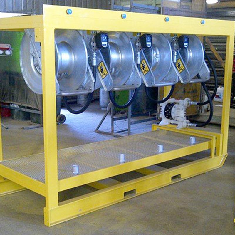 Hose Reel Rack Pit Bull Series 149 - Mining Hose Reels Diesel Refuelling